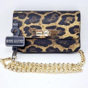 Steve Madden Bobby Leopard Belt Bag